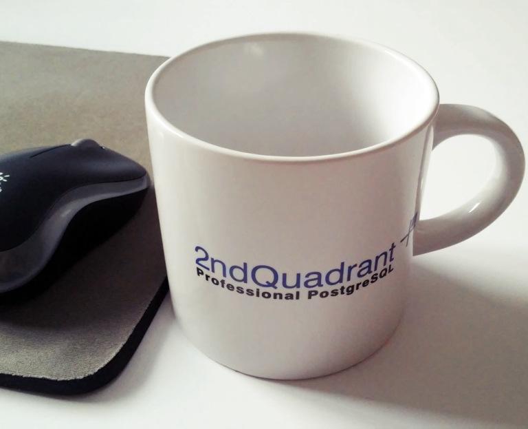 2nd quadrant kaffeebecher im büro